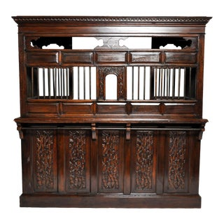 British Colonial Carved Teak Ticket Booth For Sale