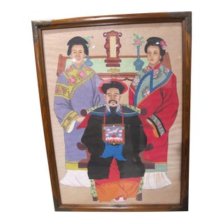 Chinese Family Ancestor Painting For Sale