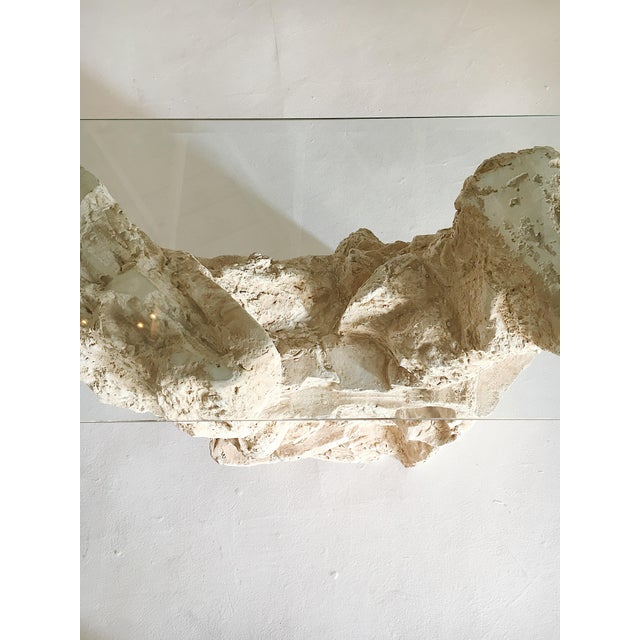 Sirmos Quarry Style Plaster Console Table For Sale In Los Angeles - Image 6 of 8