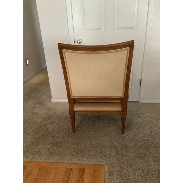 Baker Furniture Company Baker Gold Mohair Accent Bergere Chair For Sale - Image 4 of 10