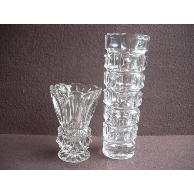 Pressed Glass Vases A Pair Chairish