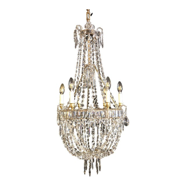 Louis XV Style Traveling Crystal Chandelier For Sale - Image 6 of 6