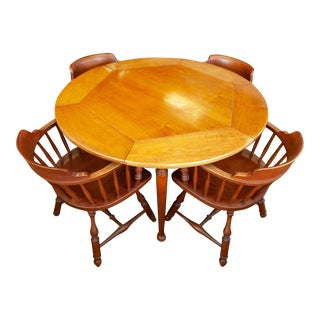 Round Table With Captains Chairs For Sale