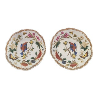 Chelsea House Original Hand-Painted Gold Rimmed Plates - a Pair