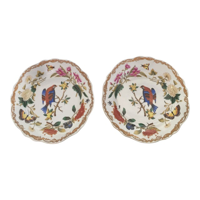 Chelsea House Original Hand-Painted Gold Rimmed Plates - a Pair For Sale