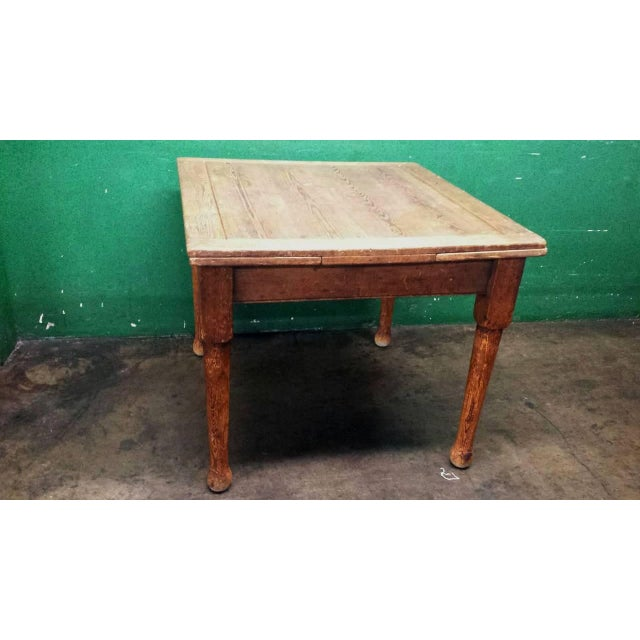 Farm House Dining Table With Leaves - Image 2 of 4