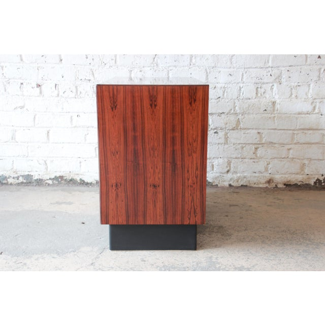 Westnofa Norwegian Rosewood Bachelor Chest For Sale - Image 10 of 12