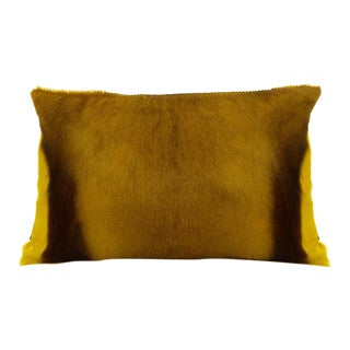 Modern Springbok Pillow in Yellow For Sale