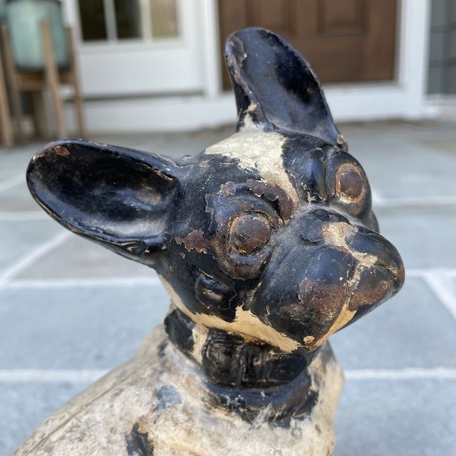 Early 20th Century Hubley Style Iron French Bulldog For Sale In Philadelphia - Image 6 of 7