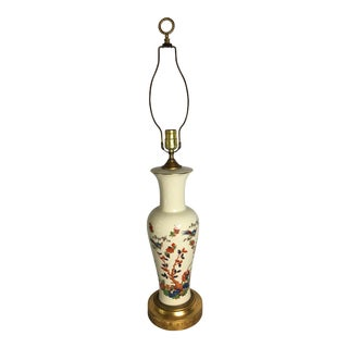 1940s Vintage Asian Inspired Porcelain Lamp For Sale