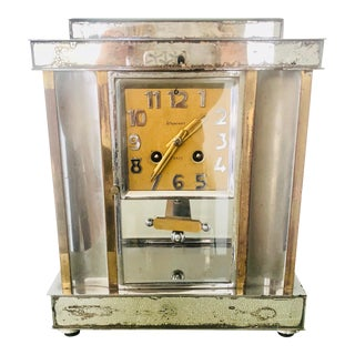 1930s Art Deco Mirrored Mantel Clock