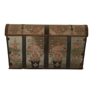 19th Century Antique Swedish Trunk For Sale