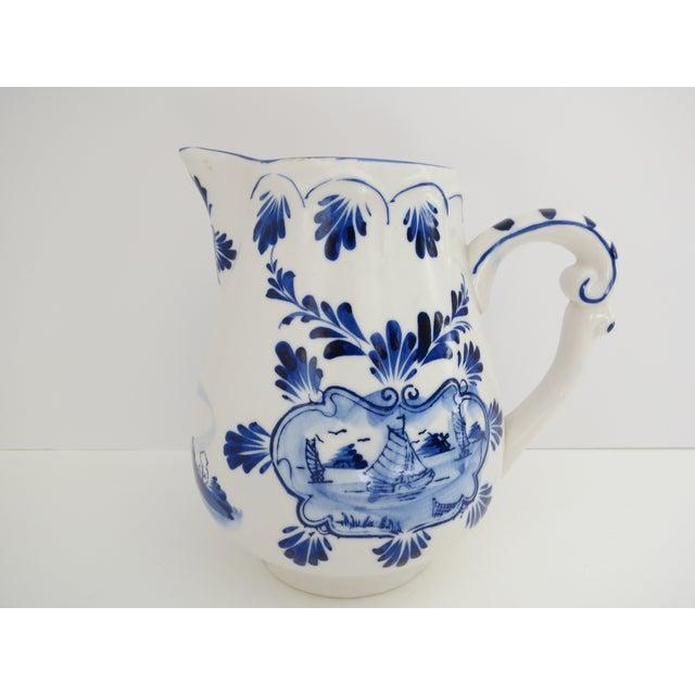 Delft Delft Blue & White Pitcher For Sale - Image 4 of 7