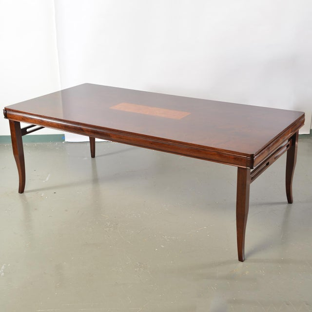 Bespoke Art Deco Style Walnut Extending Dining Table For Sale - Image 12 of 12
