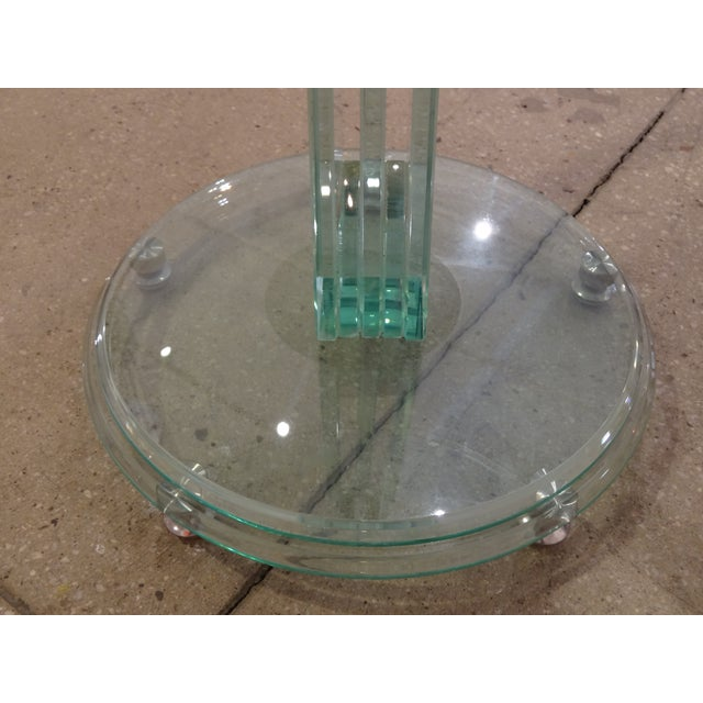 Fontana Arte Style Glass Tables - A Pair - Image 6 of 8