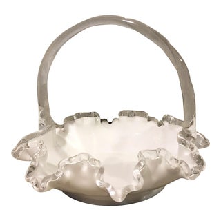 Fenton Silvercrest Glass Basket For Sale