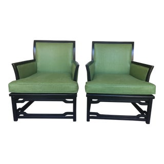Vintage Mid-Century Chinoiserie Chair- A Pair For Sale