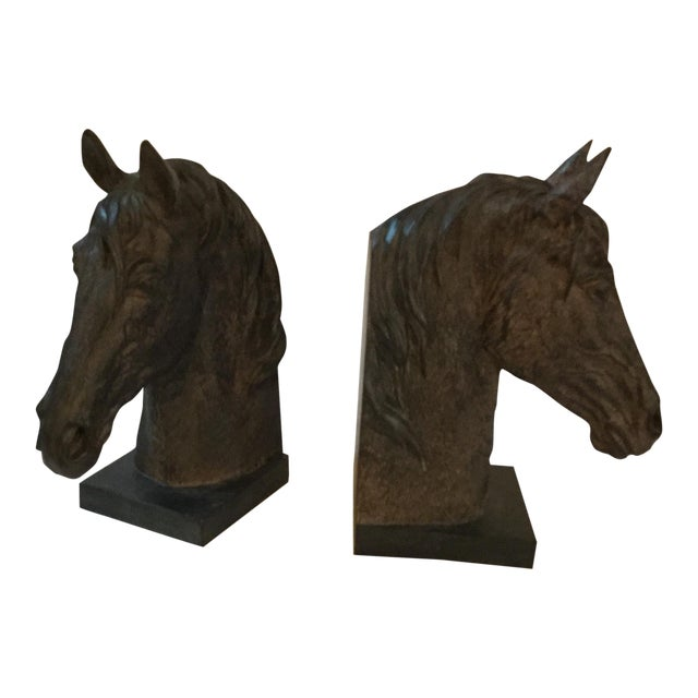 Horse Head Bookends - A Pair - Image 1 of 4