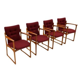 1960s Teak Dining Chairs by Vamdrup Stolefabrik - Set of 4 For Sale