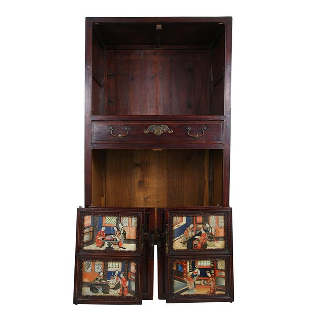 Antique Chinese Carved Fujian Armoire/Dresser For Sale - Image 4 of 6
