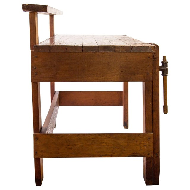 Rustic Carpenter's Workbench Sideboard For Sale - Image 10 of 13