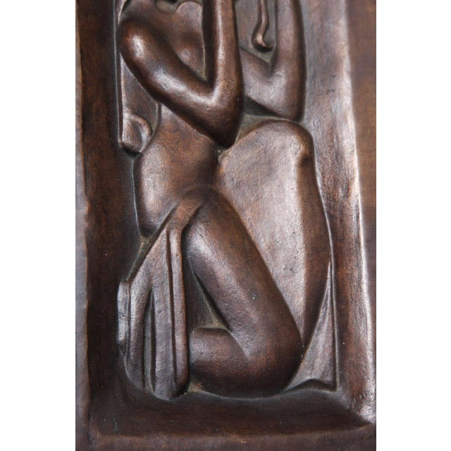 """""""Femme se peignant"""" Bronze-Relief by Joseph Csaky For Sale - Image 4 of 6"""