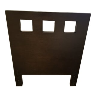West Elm Twin Square Cutout Wood Headboard For Sale