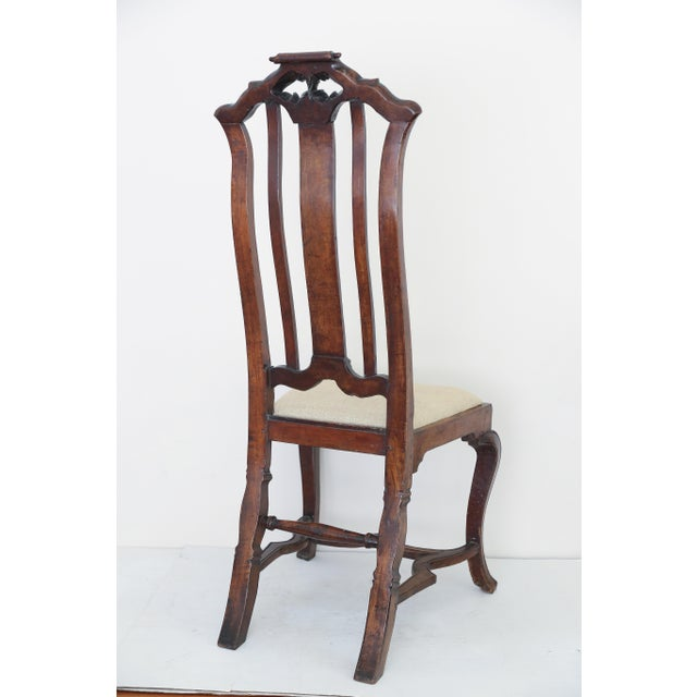 Brown Anglo Dutch Walnut Chairs - A Pair For Sale - Image 8 of 9