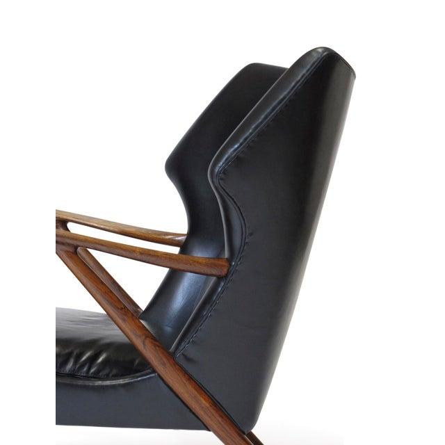 Kurt Olsen Danish Rosewood Black Leather Bear Chair For Sale - Image 9 of 11