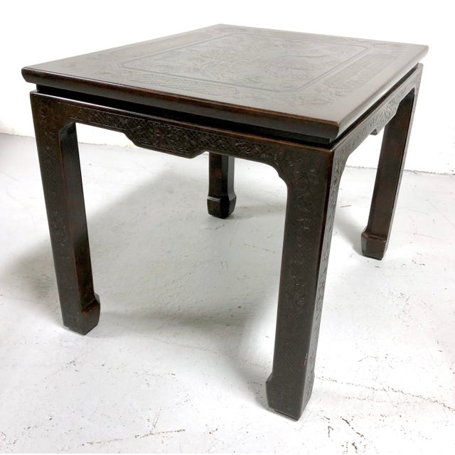 Red Mario Buatta for John Widdicomb Chinoiserie Coffee Table For Sale - Image 8 of 13