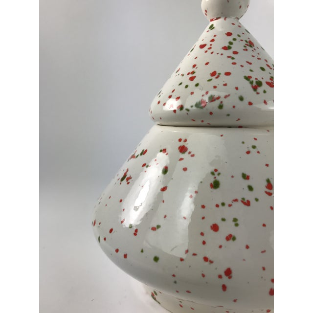 Contemporary 1980's Contemporary Christmas Tree Canister Cookie Jar For Sale - Image 3 of 9