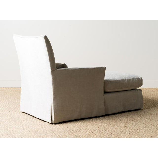 New Upholstered Ridge Chaise For Sale - Image 6 of 8