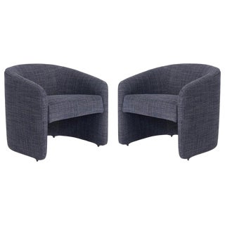 Vladimir Kagan Barrel Back Lounge Chairs, 1970 For Sale