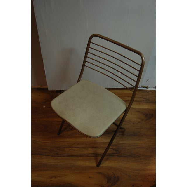 Vintage Stylaire Metal Folding Chairs - 4 For Sale In New York - Image 6 of 9
