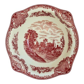 Mid 20th Century Johnson Brothers Historic Britain Castles Serving Bowl For Sale