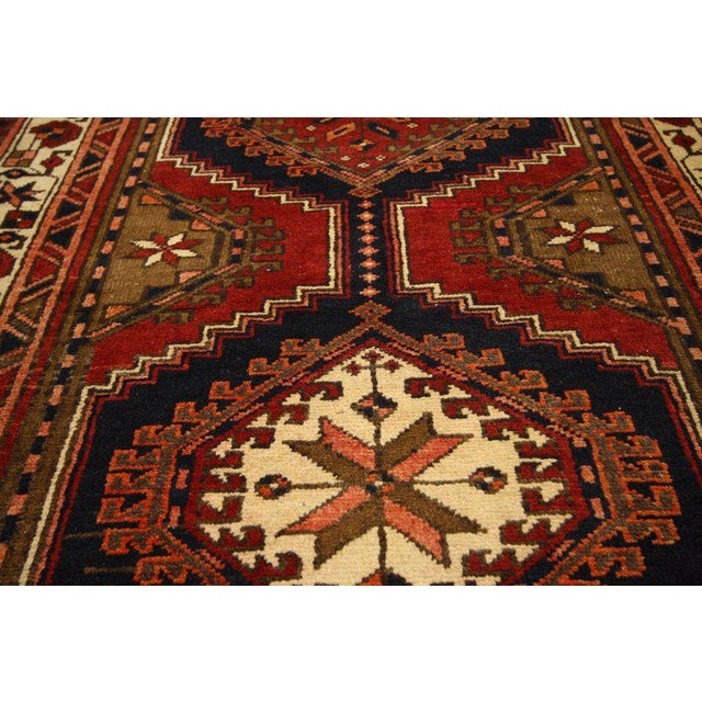 20th Century Nomadic Style Persian Azerbaijan Tribal Hallway Runner - 3′7″ × 10′9″ For Sale In Dallas - Image 6 of 7
