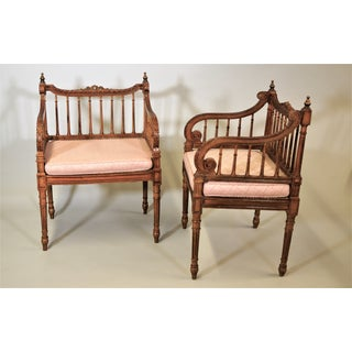 A Pair of Circa 1900 Italian Empire Style Armchairs Preview