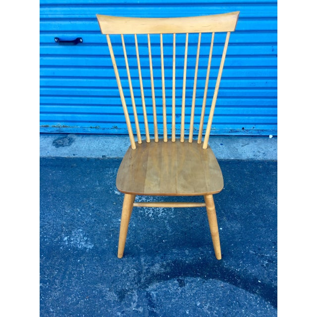 Ethan Allen High Comb Spindle Back Chair For Sale - Image 11 of 11