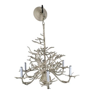 1990s Seascape Chandelier With 6 Arms by Currey and Company For Sale