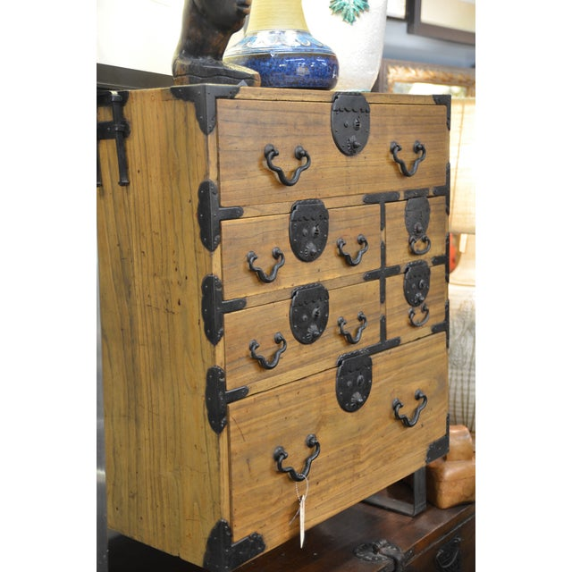 19th Century Japanese Tansu With Hand Forged Hardware For Sale - Image 9 of 11