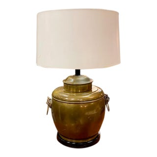 Mid Century Brass Asian Inspired Lamp, Laurel Lamp Co. For Sale