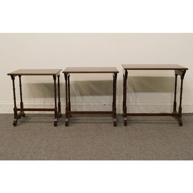 Ethan Allen Georgian Court Nesting End / Accent Tables - Set of 3 For Sale - Image 10 of 13