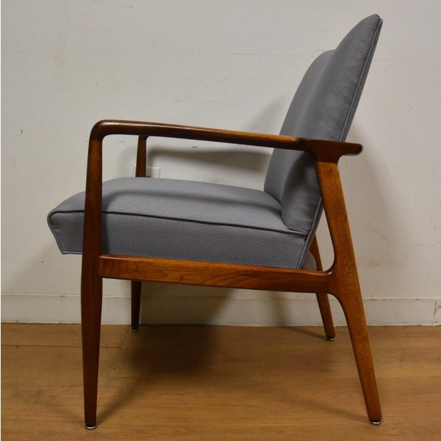 Fabric Mid-Century Modern Stow Davis Lounge Chair For Sale - Image 7 of 11