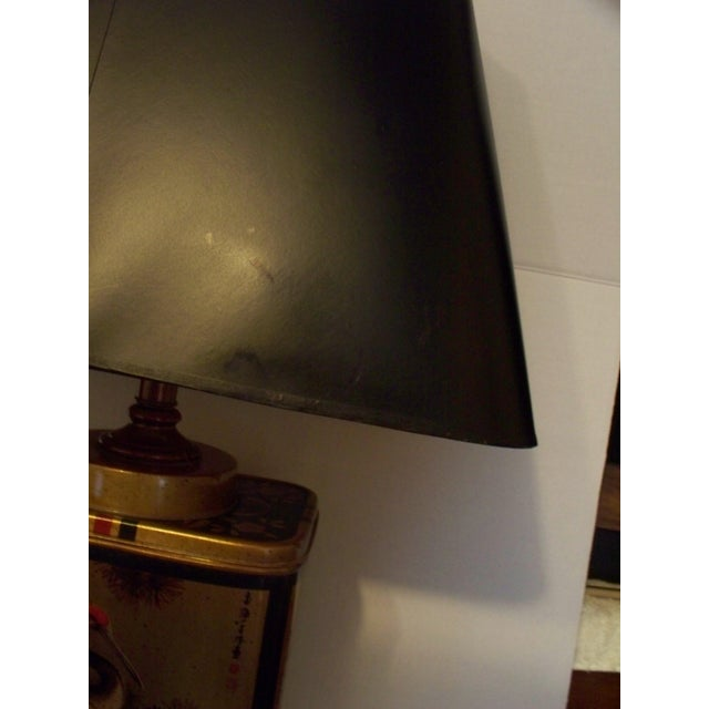 Vintage Frederick Cooper Tea Canister Table Lamp With Shade For Sale - Image 11 of 11