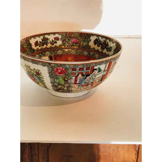 1950s 1950s Vintage Rose Medallion Bowl For Sale - Image 5 of 6