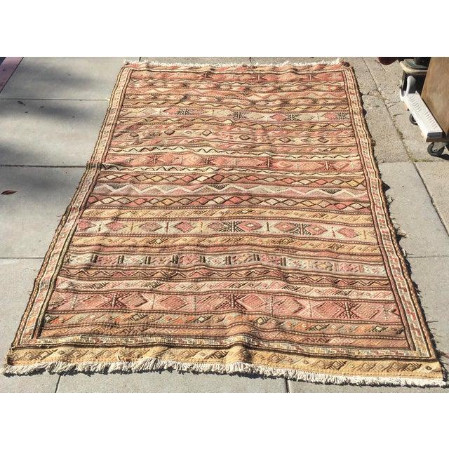 "Textile Vintage Killim Rug 67""x115"" For Sale - Image 7 of 7"