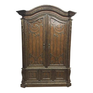 Marge Carson Wooden Armoire For Sale