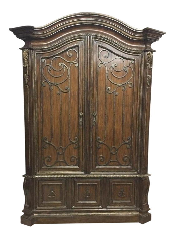 Marge Carson Wooden Armoire