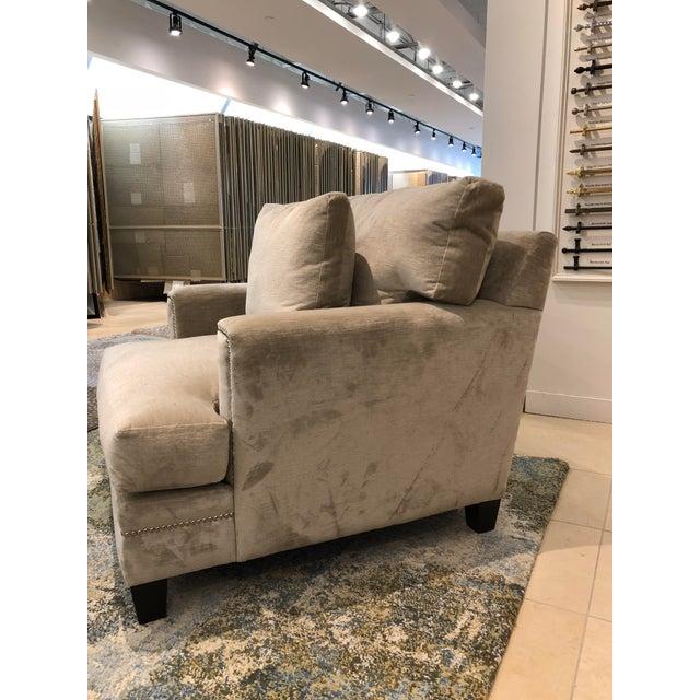 Linen Velvet Gramercy Chair For Sale - Image 9 of 10