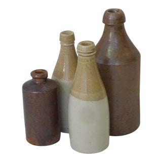 19th Century Stoneware Bottles - Set of 4 For Sale